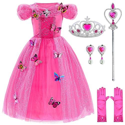 Pink Princess Fancy Dress Costume Ladies Fairy Tale Halloween UK 8 10 12