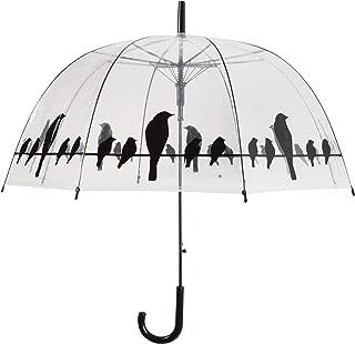 Esschert Design TP166 Birds on a Wire Clear Umbrella