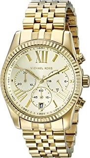 Michael Kors Lexington Women's Gold Dial Stainless Steel Band Watch - MK5556