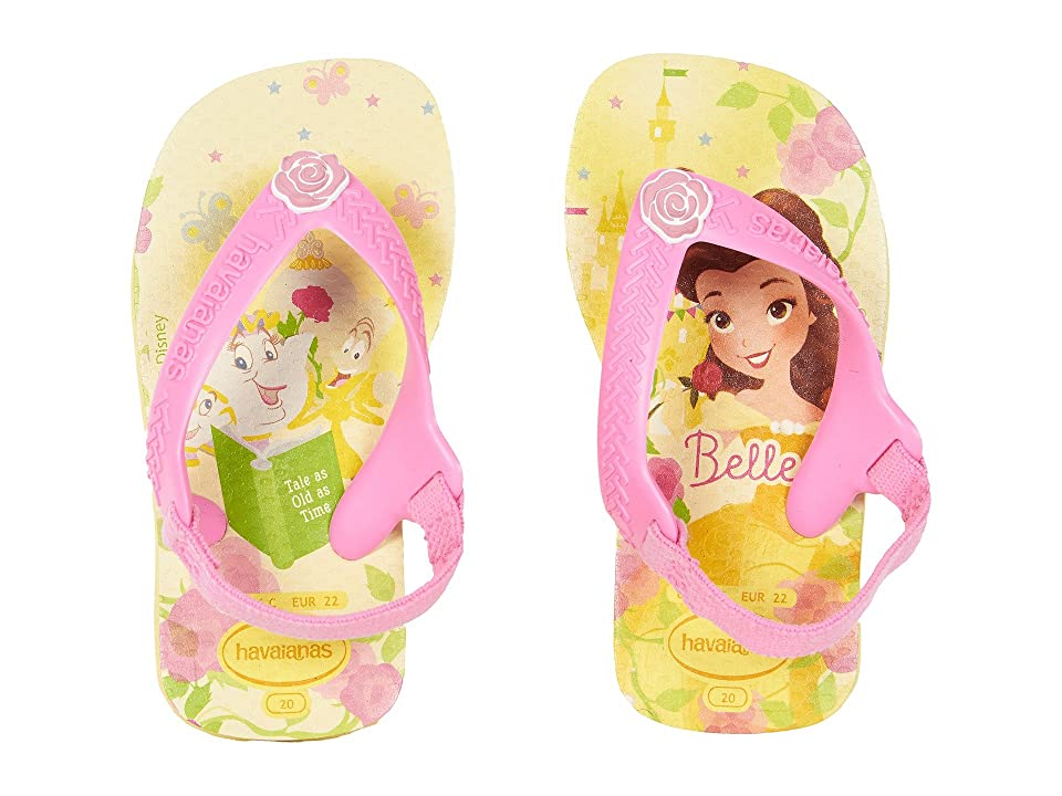 Havaianas Kids Baby Disney Princess Flip-Flop (Toddler) (Pollen Yellow) Girls Shoes