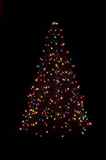 Crab Pot Trees 5 ft. Indoor/Outdoor Pre-Lit LED Artificial Christmas Tree with Green Frame and 280 Multi-Color Lights
