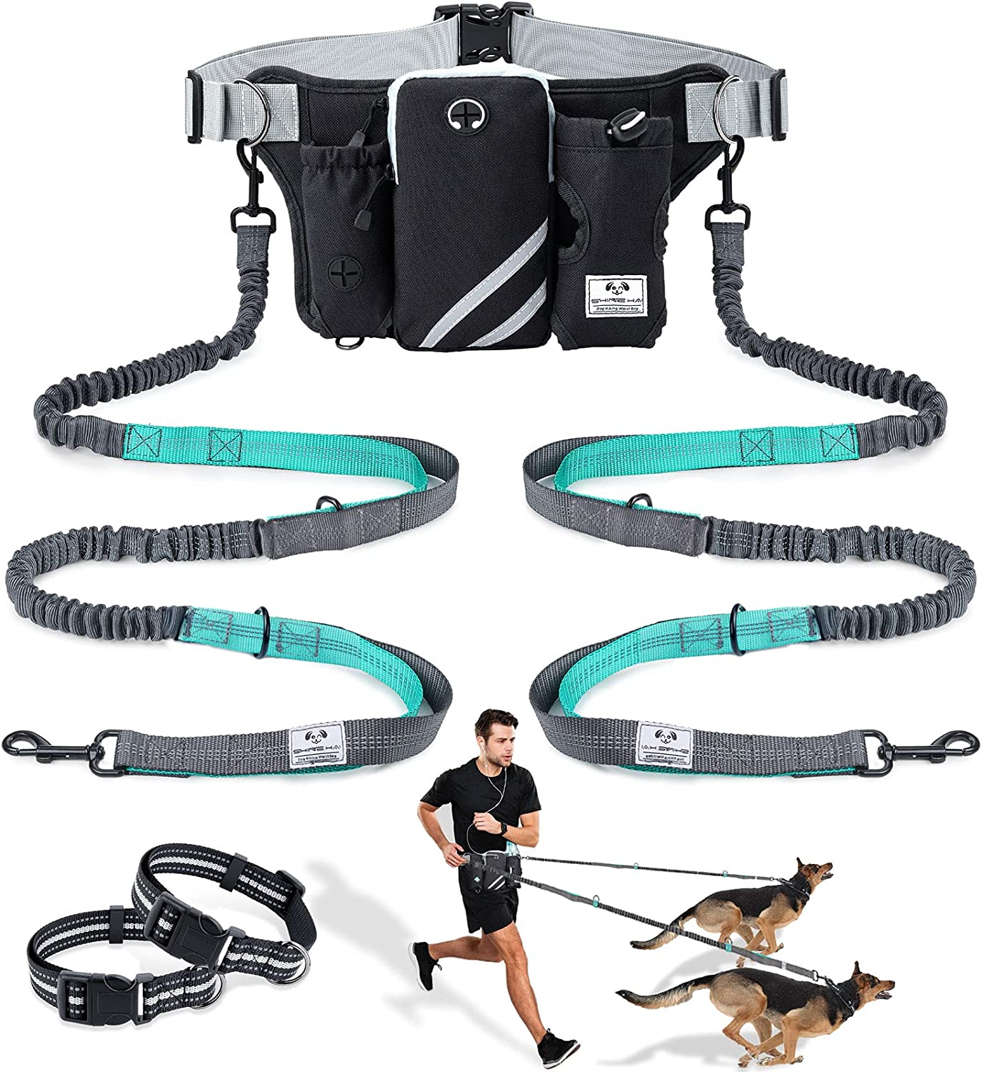 SHINE Outlet SALE HAI Retractable Hands Free Dog Now on sale with for Dual Leash Bungees
