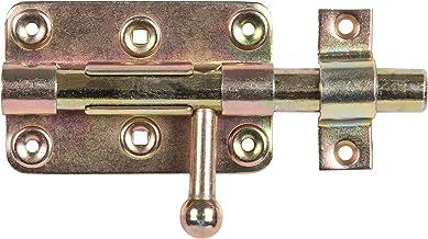 GAH-Alberts 129026 bout-sluitgrendel, met ronde greep en bevestigde lus, elektrolytisch geel verzinkt, plaat 99 x 60 mm, b...