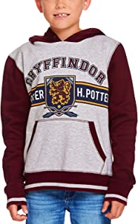 HARRY POTTER Sudadera con Capucha para niños Gryffindor Crest Hooded Grey Red