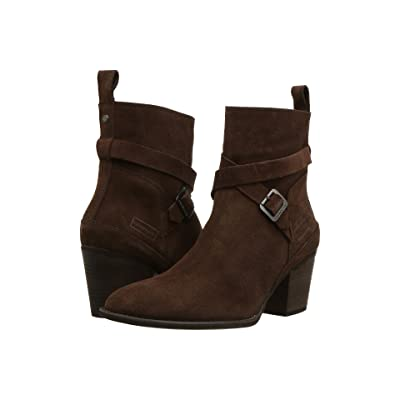 Hunter Refined Strap Boot Suede (Chocolate) Women