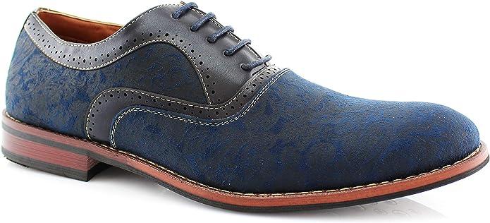 Mens Vintage Shoes, Boots | Retro Shoes & Boots Ferro Aldo Garrett MFA19623L Men's Classic Vegan Leather Lace-Up Oxford Formal Dress Shoes  AT vintagedancer.com