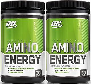 Optimum Nutrition Essential Amino Energy, Pack of Two 30 Servings (Green Apple 2 x 30 servings)