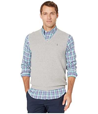 Polo Ralph Lauren Pima Knit Vest (Andover Heather) Men