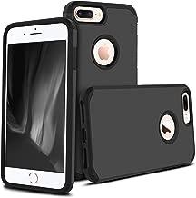 iPhone 8 Plus Case, Apple iPhone 8 Plus, Celljoy [Liquid Armor] Slim Fit [Dual Layer Series] TPU Bumper Protective Hybrid [[Shockproof]] (Logo Cutout) - Thin Hard Plastic Shell Cover (Black)