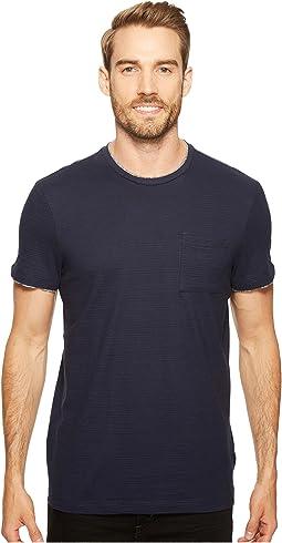 Faux Double Layer Crew Neck T-Shirt