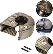Titanium Turbo Blanket T3 Lava cover for Turbocharger Thermal Heat Shield Cover with Fastener Springs T25 T28 GT25 GT28 GT30 GT32 GT35 GT37 CT26