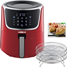 GoWISE USA GW22957 7-Quart Electric Air Fryer with Dehydrator & 3 Stackable Racks, Digital Touchscreen with 8 Functions + ...
