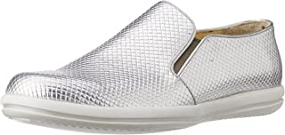 CG Shoe Men's Silver Leather Sneakers - 8 UK (CG-TK 33)