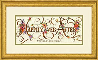Dimensions 'Ever After' Counted Cross Stitch Kit Personalized Wedding Gift, 18 Count Ivory Aida Cloth, 12'' x 5''