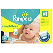 Pampers Swaddlers Diapers Size 2 186 Count (Packaging May Vary)