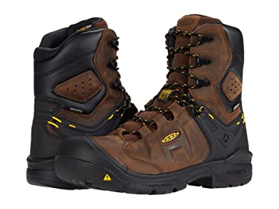 Keen Utility Dover 8 Waterproof (Carbon-fiber Toe) (Dark Earth/Black) Men