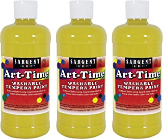 Sargent Art Yellow Art-Time Washable Tempera Paint, 3 Count