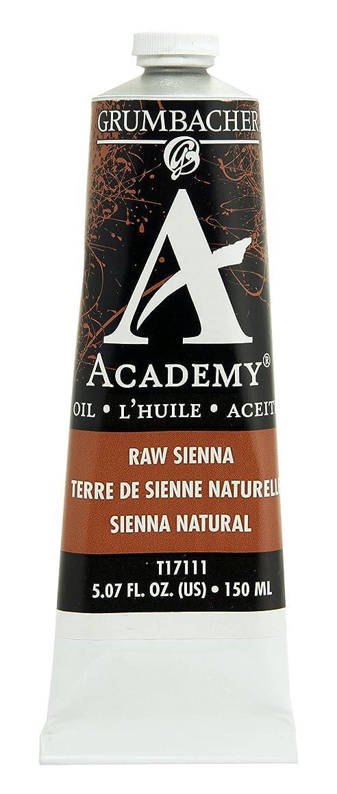 Grumbacher Academy Oil Paint, 150 ml/5.07 oz, Raw Sienna