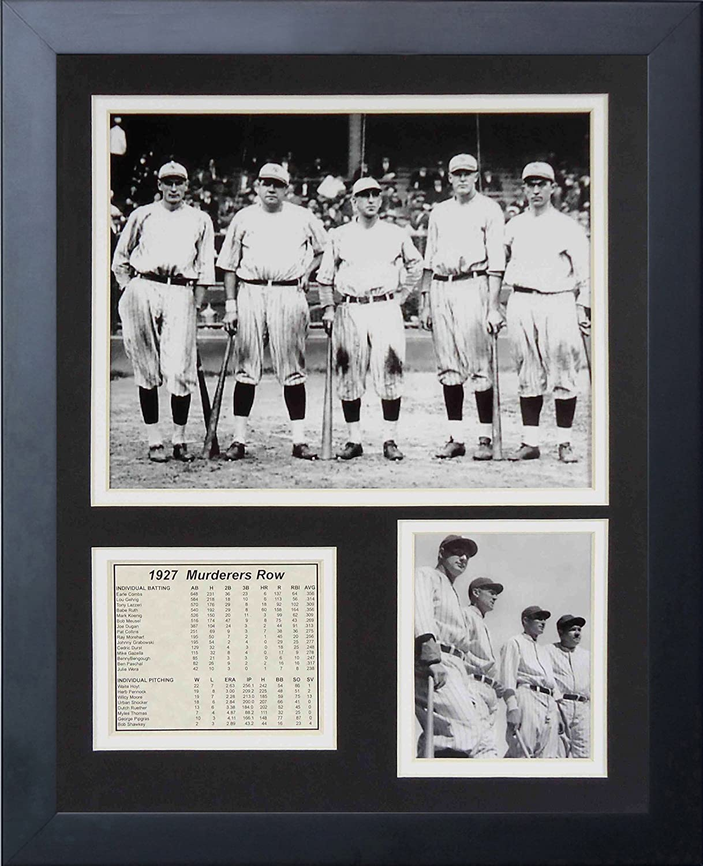 Legends Never Die 1927 New York Yankees Murderer's Row Framed Photo Collage, 11x14Inch