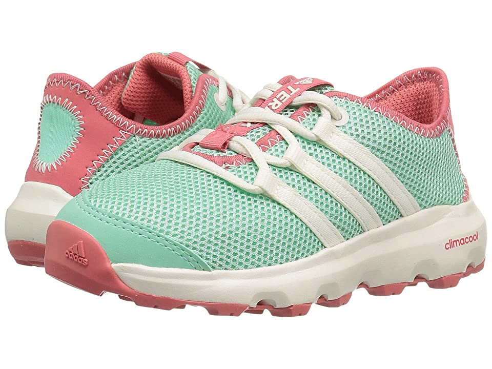 Image of adidas Outdoor Kids Terrex Climacool Voyager (Little Kid/Big Kid) (Easy Green/Chalk White/Tactile Pink) Girls Shoes