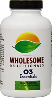 Wholesome Nutrition O3 Essentials Fish Oil, 120 Count