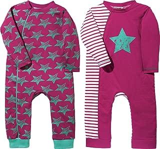 Erwin M/üller Baby-Schlafanzug 2er-Pack mit Druckmotiv Interlock-Jersey Mandarine Gr/ö/ße 74//80