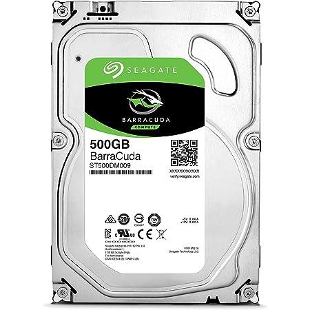 """Seagate BarraCuda 3.5"""" 500GB 内蔵ハードディスク HDD 2年保証 6Gb/s 32MB 7200rpm 正規代理店品 ST500DM009"""