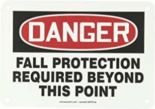 Accuform MFPR104VP Plastic Safety Sign, Legend