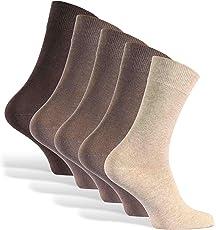 Reslad Business Socken (10 Paar I 5 Paar) Damen & Herren bequeme Baumwolle ohne drückende Naht I Lange Haltbarkeit (Ohne Fusseln)