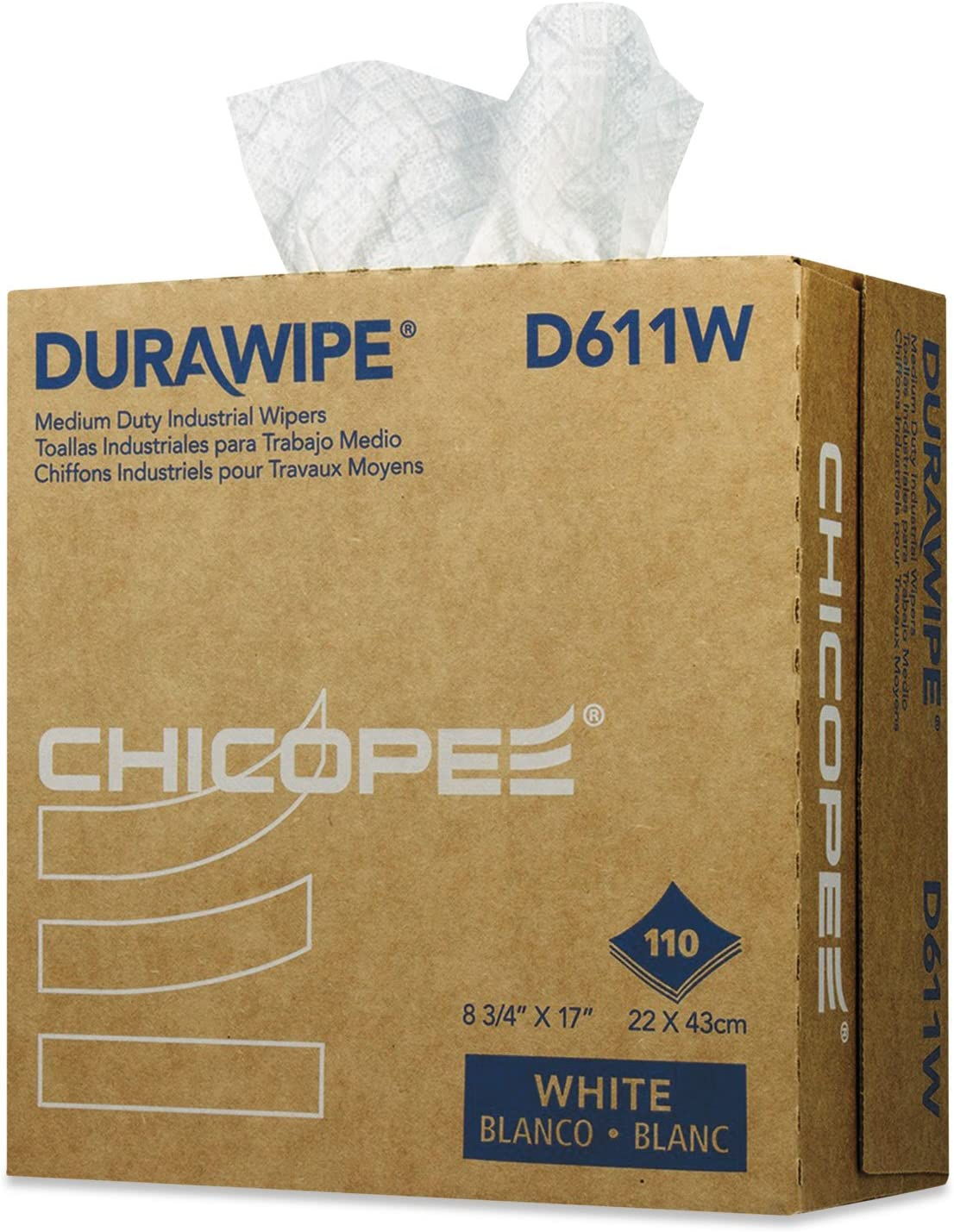Chicopee Durawipe Max 66% At the price of surprise OFF Medium-Duty Industrial Wipers Whit 8. 17 x