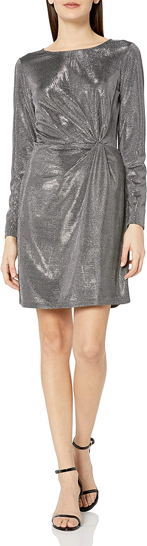 BB Dakota by Steve Madden Women's What's Your Shine Metallic Long Sleeve Dress