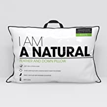 I AM A Natural, Luxurious White Down and Feather Firm Side Sleeper Pillow, King