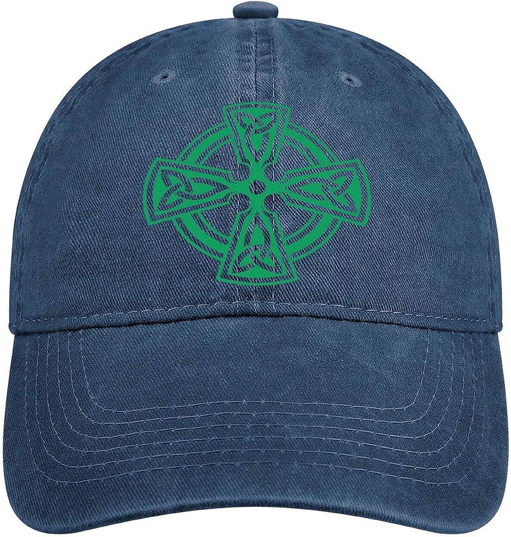 Celtic Cross Knot Irish Shield Warrior Baseball Cap Retro Dad Hats Adjustable Cowboy Trucker Hat Gift for Men/Women