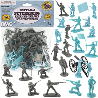 رجال الجيش البلاستيكي للحرب الأهلية من BMC - 32 قطعة من شخصيات معركة بطرسبورغ