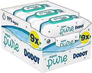 Dodot Aqua Pure Toallitas Bebé con 99% Agua,  9 Paquetes x  48 Toallitas (432)