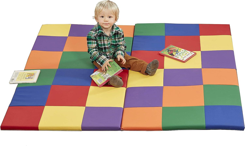 Max 40% OFF ECR4Kids SoftZone Patchwork Toddler Baltimore Mall Foam Activity Squa 58in Mat