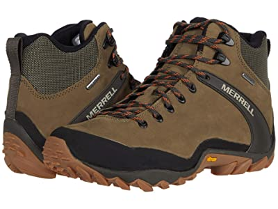 Merrell Chameleon 8 Leather Mid Waterproof (Olive) Men