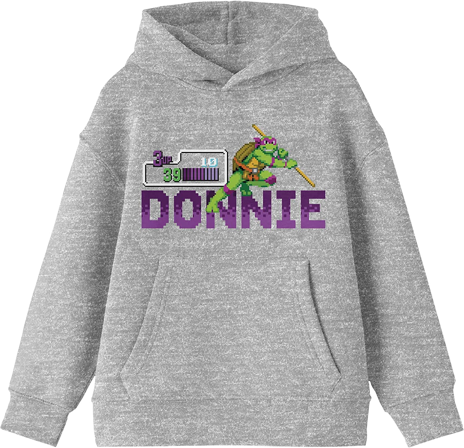 TMNT Donnie Pixel Art Same day 5 ☆ very popular shipping Youth Heather Hoodie Gray