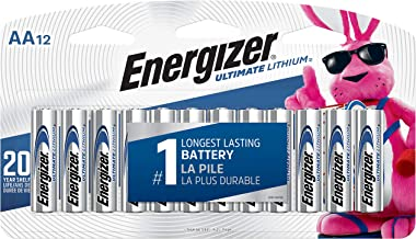 Energizer AA Lithium Batteries, World`s Longest Lasting Double A Battery, Ultimate Lithium (12 Battery Count)