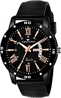 FF8127-BK Black Mesh Strap Day & Date Functioning Men Analog Watch - for Boys