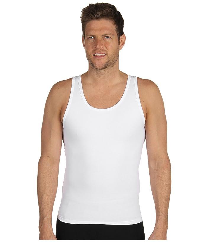 Spanx for Men Cotton Compression Tank (White) Men