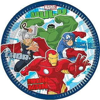 Los Vengadores Lote para Fiestas y cumplea/ños Avengers ALMACENESADAN 1010 12 Invitados; 115 Piezas