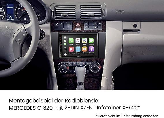 2 Din Einbauset Kompatibel Mit Mercedes Benz C Klasse Elektronik