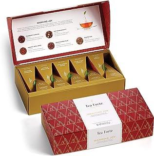 Tea Forte Petite Presentation Box Tea Samplers, Assorted Variety Tea Box, 10 Handcrafted Pyramid Tea Infuse...