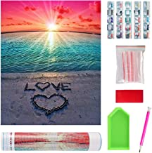 Full Drill 5D Diamond Painting Kits for Home Wall Decor, DIY Beach & LOVE Crystal Art Gift, Personalised Paint by Numbers ...