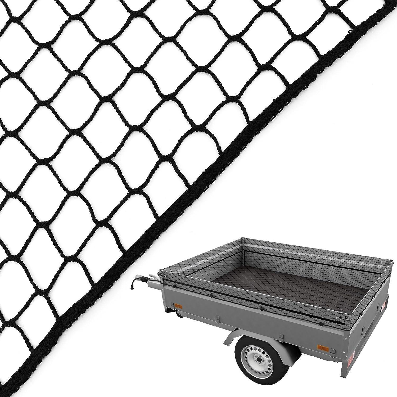 Caretec Anhängernetz Gepäcknetz Abdecknetz Zur Ladungssicherung Pkw Anhänger Netz Sicherung 2 50 X 4 00 M Schwarz Baumarkt