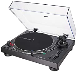 Audio-Technica AT-LP120XUSB-BK Direct-Drive Turntable (Analog & USB), Fully Manual, Hi-Fi, 3 Speed, Convert Vinyl to ...