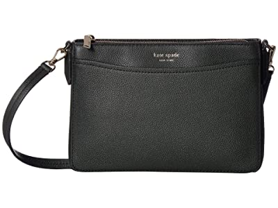 Kate Spade New York Margaux Medium Convertible Crossbody (Deep Evergreen) Handbags