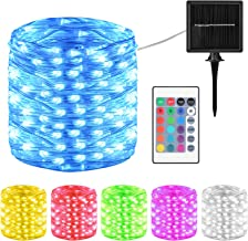 Solar String Lights, Colorful 100 LED Lamp Beads Waterproof Solar Fairy Lights with Remote Control, Timer Outdoor String L...
