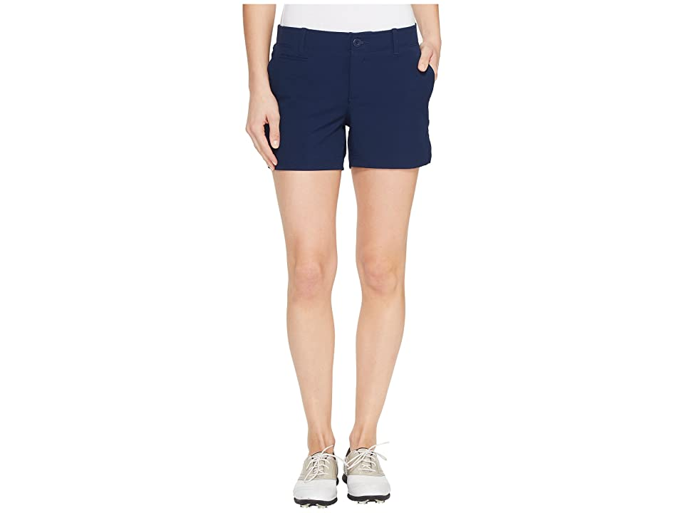 Under Armour Golf Links Shorty 4 (Academy/True Gray Heather/Academy) Women's Shorts, Black